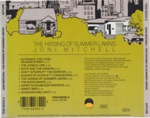 joni mitchell - The Hissing of Summer Lawns Back